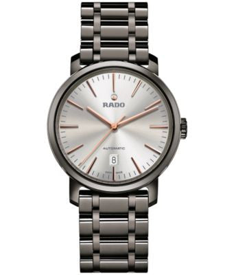 Rado Men's Swiss Automatic DiaMaster Plasma High-Tech Ceramic Bracelet Watch 41mm R14074102