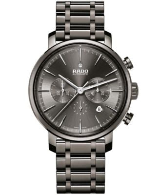 Rado Men's Swiss Automatic Chronograph DiaMaster Dark Gray Plasma High-Tech Ceramic Bracelet Watch 4
