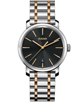 Rado Men's Swiss DiaMaster Two-Tone Stainless Steel Bracelet Watch 40mm R14078163