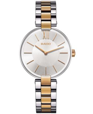 Rado Unisex Swiss Coupole Two-Tone Stainless Steel Bracelet Watch 33mm R22850103