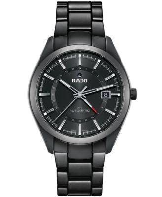 Rado Men's Swiss Automatic HyperChrome UTC Black High-Tech Ceramic Bracelet Watch 42mm R32167152
