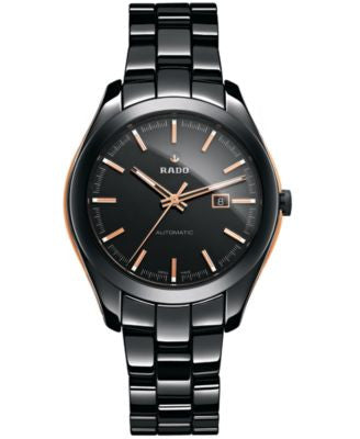 Rado Unisex Swiss Automatic HyperChrome Black High-Tech Ceramic Bracelet Watch 36mm R32255152