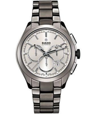Rado Men's Swiss Automatic Chronograph HyperChrome Plasma High-Tech Ceramic Bracelet Watch 45mm R322