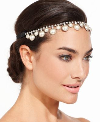 Josette Pearl and Rhinestone Headpiece