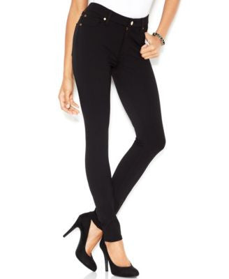 7 For All Mankind High-Waist Skinny, Black Wash