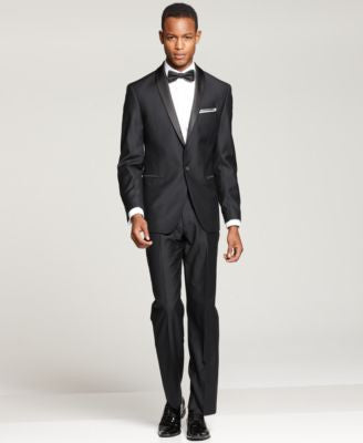 Ryan Seacrest Distinction Black Slim-Fit Tuxedo Separates