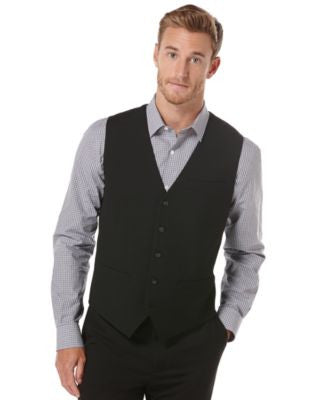Perry Ellis EDV Button Front Vest
