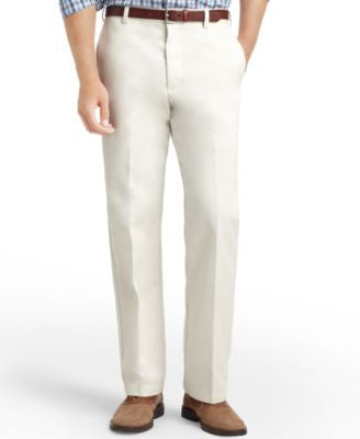 IZOD American Straight-Fit Flat Front Wrinkle-Free Chino Pants