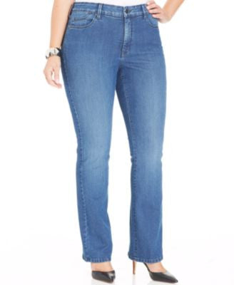 NYDJ Plus Size Billie Mini Bootcut Jeans, Yucca Valley Wash