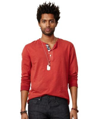 Denim & Supply Ralph Lauren Men's Flag-Placket Henley