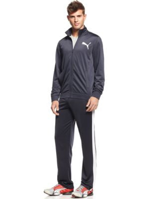 Puma Men's Tricot Contrast Jacket & Pants