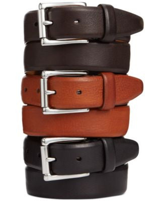 Cole Haan Burnished Edge Roller-Buckle Belt
