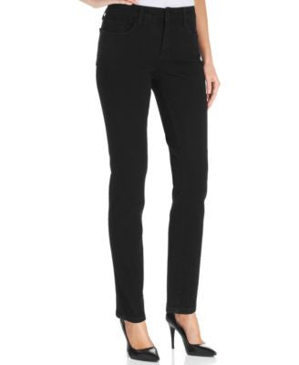 NYDJ Petite Alina Skinny Jeggings, Black Wash