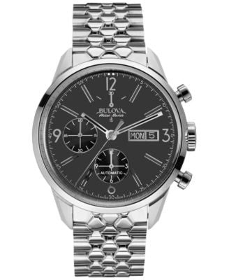 Bulova AccuSwiss Men's Automatic Chronograph Murren Stainless Steel Bracelet Watch 41mm 63C119