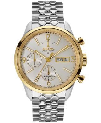 Bulova AccuSwiss Men's Automatic Chronograph Murren Stainless Steel Bracelet Watch 41mm 5C113