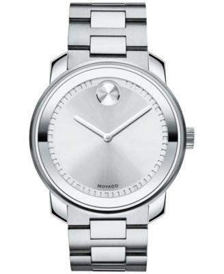 Movado Unisex Swiss Bold Stainless Steel Bracelet Watch 43mm 3600257