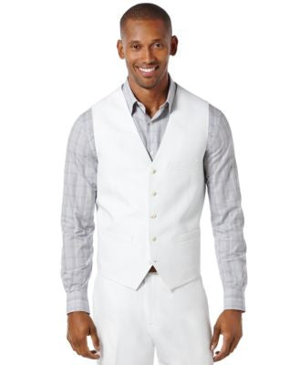 Perry Ellis Big and Tall Linen Blend Vest