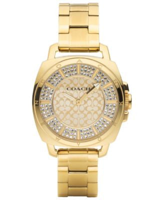 COACH WOMEN'S BOYFRIEND GOLD-PLATED BRACELET WATCH 34MM 14501994