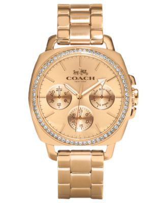 COACH WOMEN'S ROSE GOLD-PLATED BRACELET WATCH 40MM 14502081