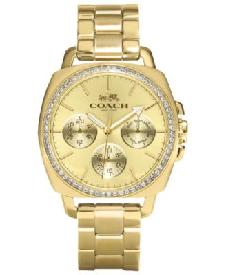 COACH WOMEN'S BOYFRIEND GOLD-PLATED BRACELET WATCH 40MM 14502080