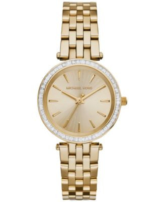 Michael Kors Women's Mini Darci Gold-Tone Stainless Steel Bracelet Watch 33mm MK3365