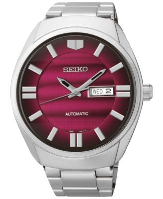 Seiko Men's Automatic Stainless Steel Bracelet Watch 44mm SNKN05