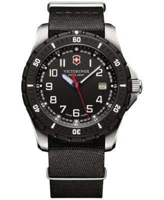 Victorinox Swiss Army Men's Maverick Sport Black Fabric Strap Watch 43mm 241674.1