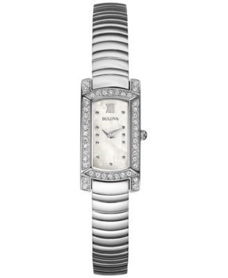 Bulova Women's Stainless Steel Bracelet Watch 18x15mm 96L207 - A Vogily Exclusive