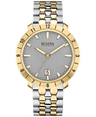 Bulova Accutron II Men's Moonview Two-Tone Stainless Steel Bracelet Watch 42mm 98B216