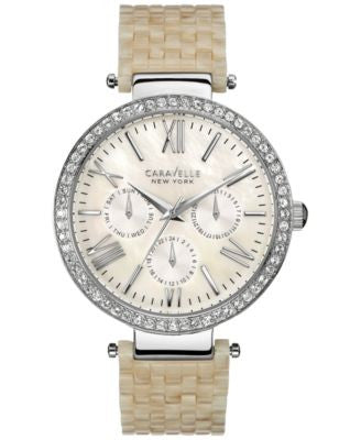 Caravelle New York by Bulova Women's Ivory-Colored Bracelet Watch 38mm 43N102