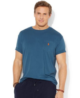 Polo Ralph Lauren Big and Tall Classic-Fit Jersey Pocket Crewneck