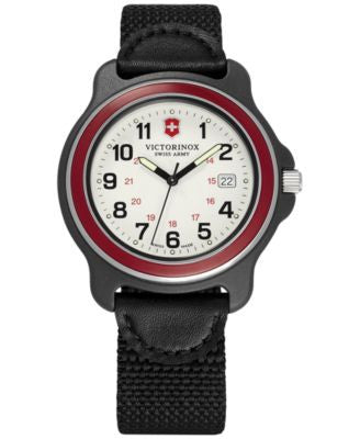 Victorinox Swiss Army Men's Original Black Nylon Strap Watch 43mm 249085