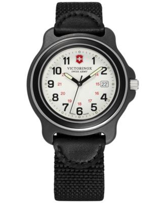 Victorinox Swiss Army Men's Original Black Nylon Strap Watch 43mm 249086