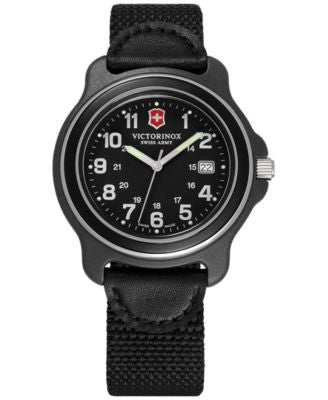 Victorinox Swiss Army Men's Original Black Nylon Strap Watch 43mm 249087