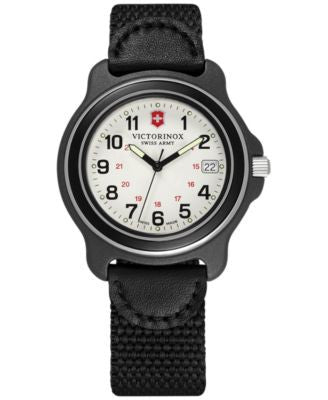 Victorinox Swiss Army Men's Original Black Nylon Strap Watch 39mm 249089