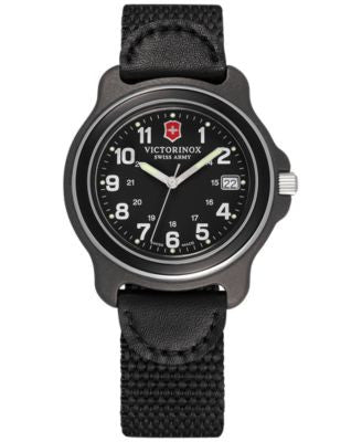 Victorinox Swiss Army Men's Original Black Nylon Strap Watch 39mm 249090