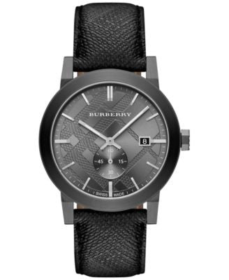 Burberry Men's Swiss The City Gray Beat Check Strap Watch 42mm BU9903