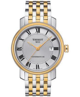 Tissot Men's Swiss Automatic Bridgeport Two-Tone Stainless Steel Bracelet Watch 40mm T0974072203300