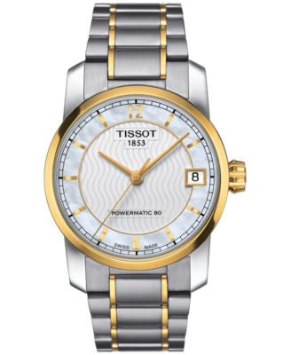 Tissot Women's Swiss Automatic T-Classic Two-Tone Titanium Bracelet Watch 32mm T0872075511700