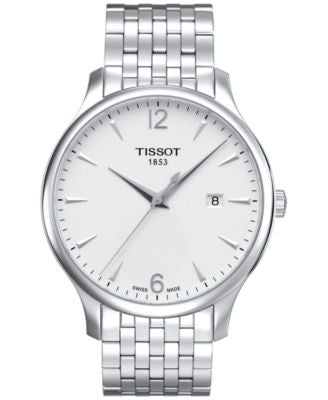Tissot Men's Swiss Tradition Stainless Steel Bracelet Watch 42mm T0636101103700
