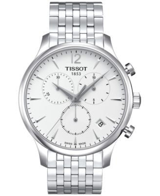 Tissot Men's Swiss Chronograph Tradition Stainless Steel Bracelet Watch 42mm T0636171103700