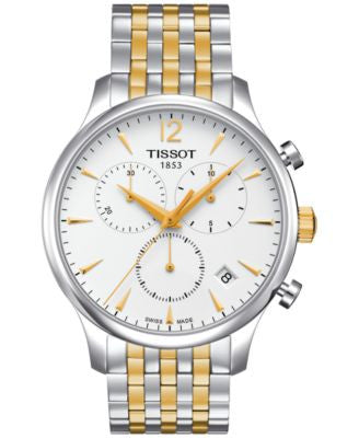 Tissot Men's Swiss Chronograph Tradition Two-Tone Stainless Steel Bracelet Watch 42mm T0636172203700