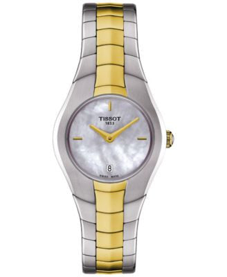 Tissot Women's Swiss T-Round Two-Tone Stainless Steel Bracelet Watch 26mm T0960092211100