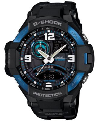 G-Shock Men's Analog-Digital Black Resin Strap Watch 51x52mm GA1000-2B