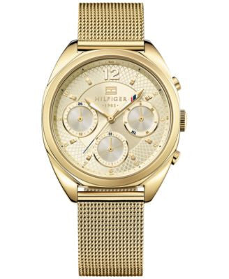 Tommy Hilfiger Women's Gold Ion-Plated Stainless Steel Mesh Bracelet Watch 38mm 1781488
