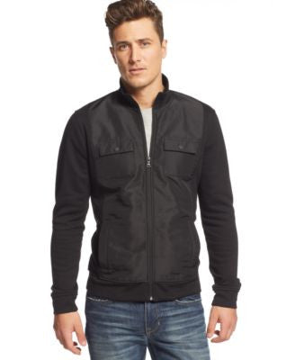 Alfani BLACK Big and Tall Reyes Quilted Fleece Jacket, Only at Vogily