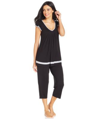 Ellen Tracy Yours to Love Short Sleeves Top and Capri Pajama Pants Separates