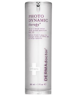 DERMAdoctor Photodynamic Therapy 3-in-1 Facial Lotion with Broad Spectrum SPF 30