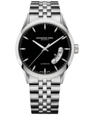 RAYMOND WEIL Men's Swiss Automatic Freelancer Stainless Steel Bracelet 38mm 2770-ST-20011