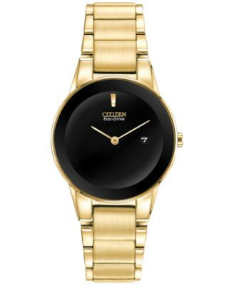 Citizen Women's Eco-Drive Axiom Gold-Tone Stainless Steel Bracelet Watch 30mm GA1052-55E